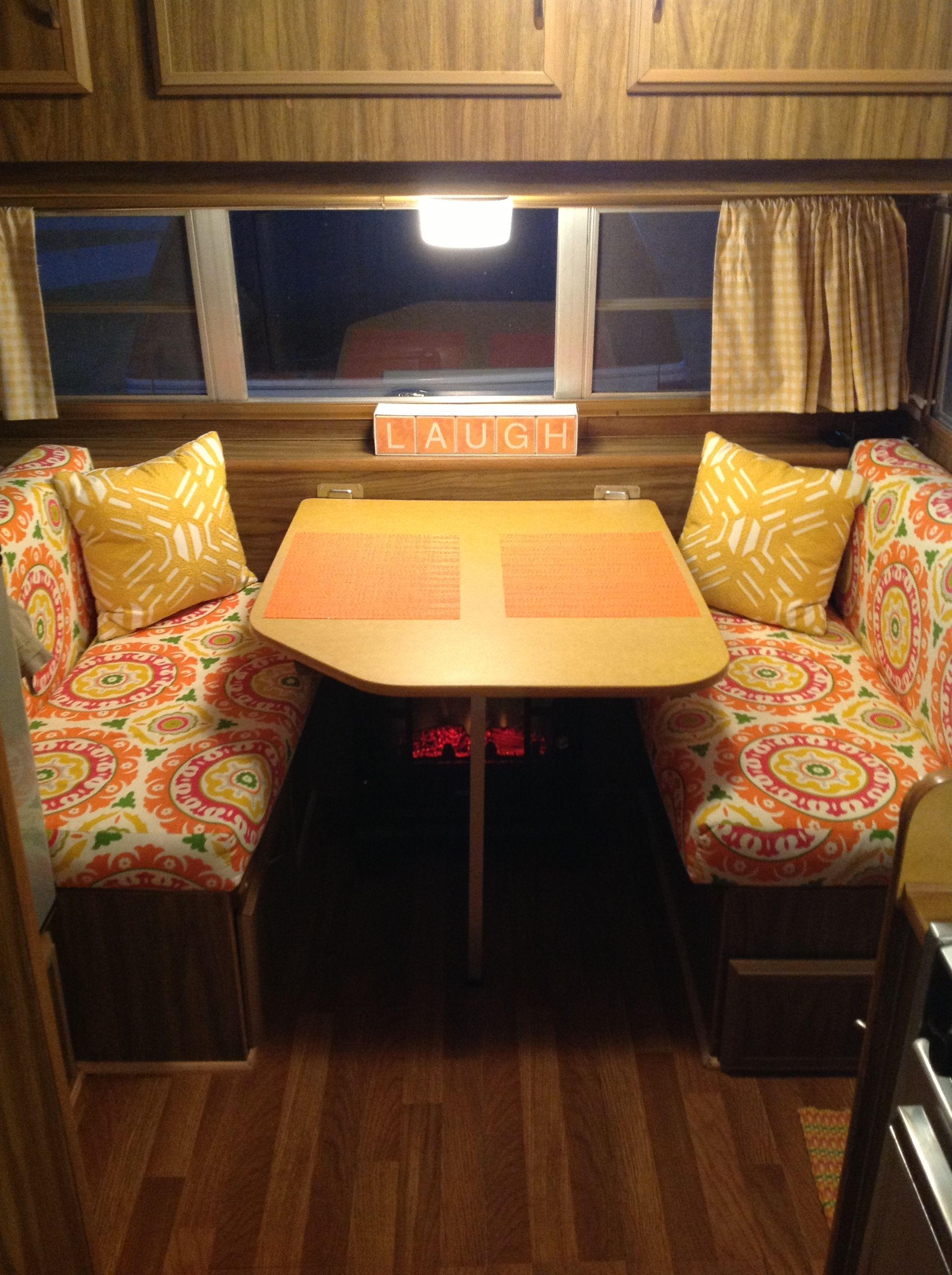 1976 Prowler with new wood floor, cushions, curtains