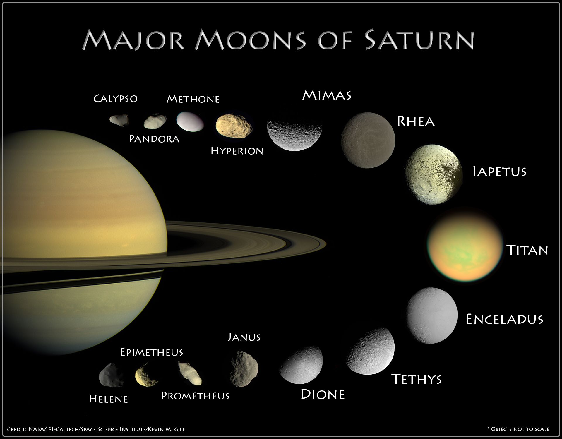 As Of April 2014 There Are 62 Known Satellites Of Saturn
