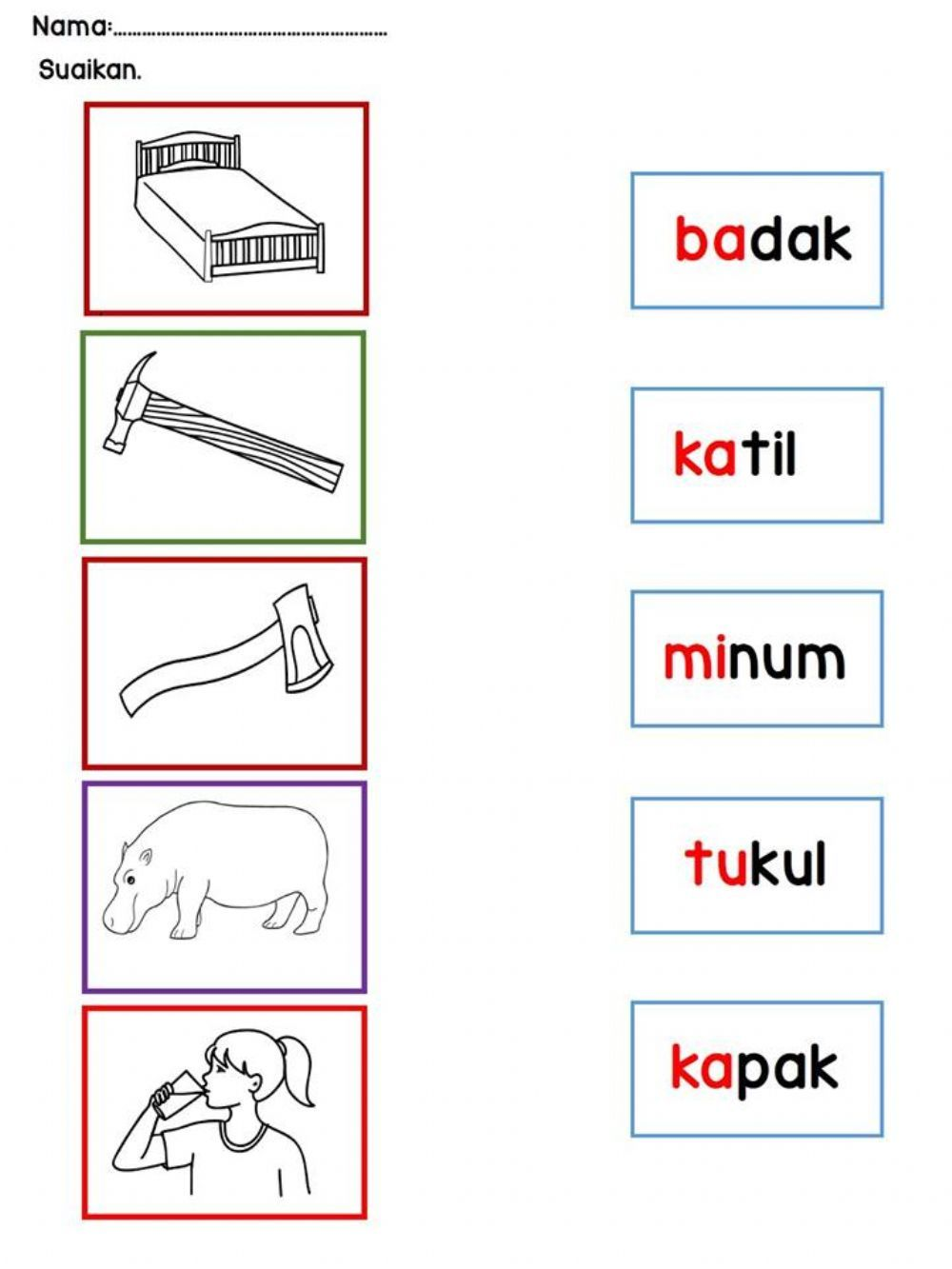 Perkataan Kvkvk Online Worksheet For Grade 3 You Can Do The Exercises Online Or Download The Worksheet As Worksheets School Worksheets Worksheets For Grade 3