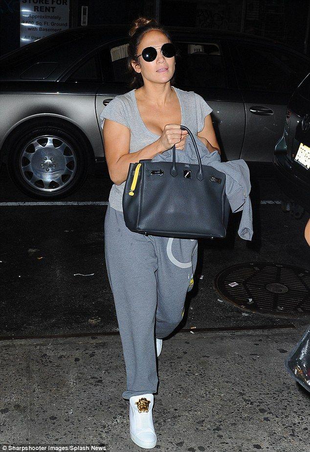JLo pairs her Hermès Birkin bag with Peace Love World