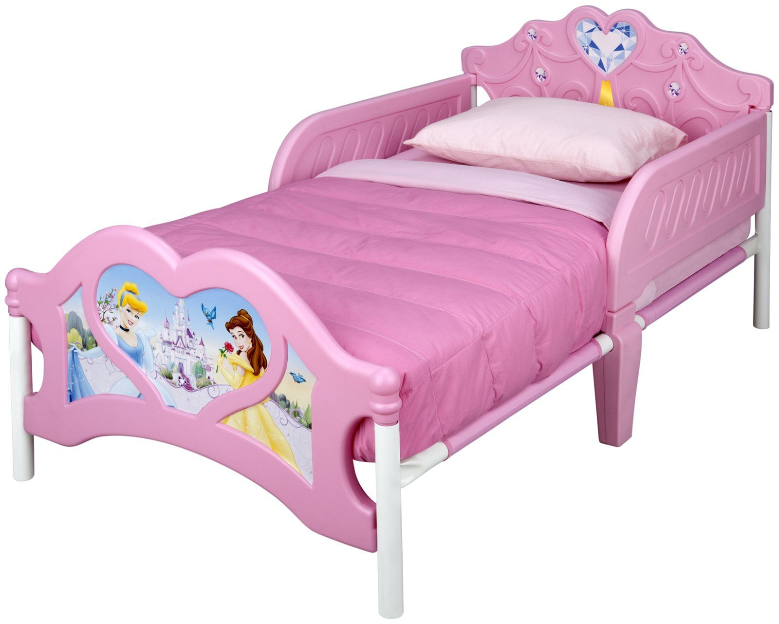 70+ Disney Princess toddler Bed with Canopy assembly