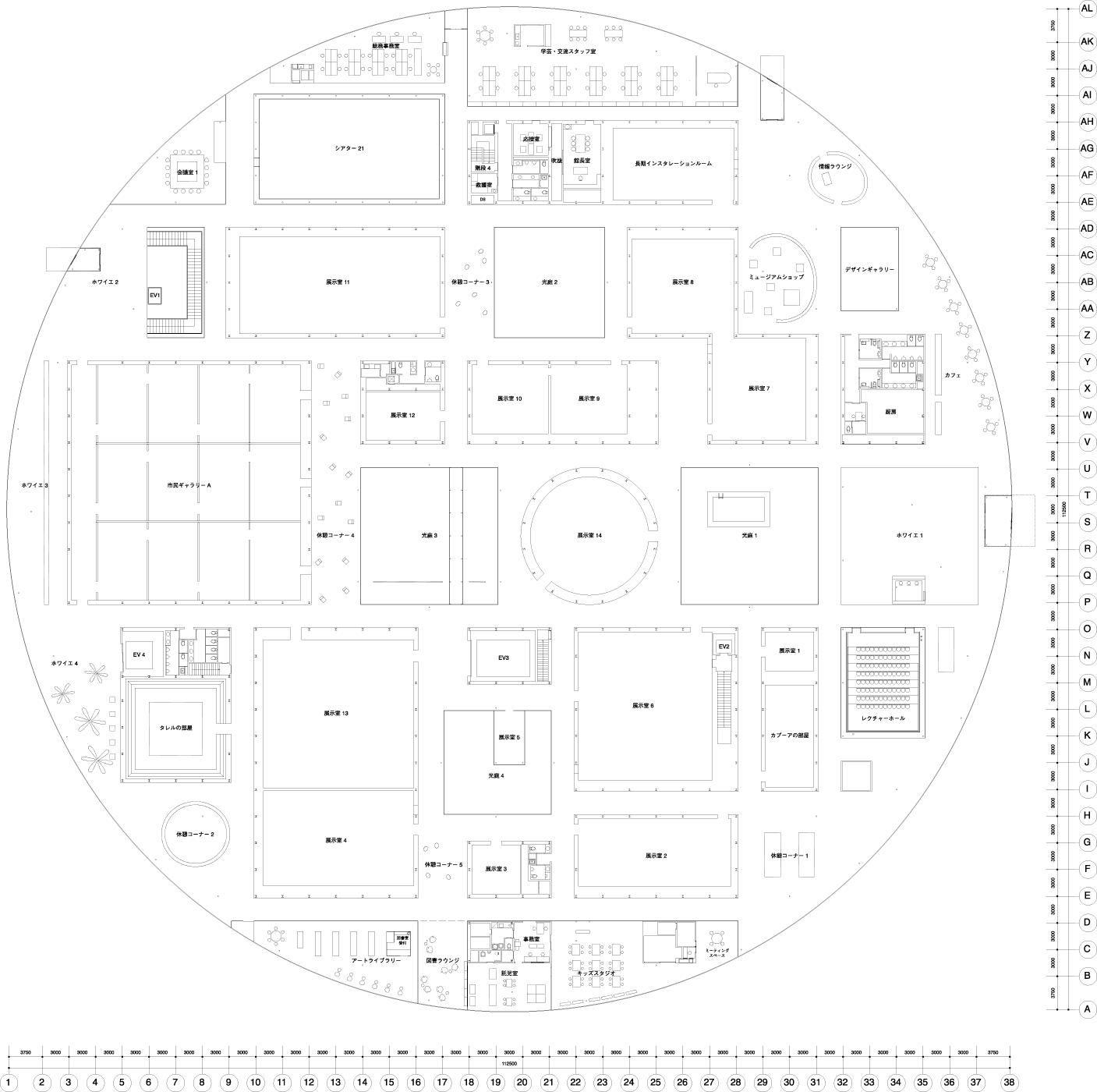 Floor Plan Of 21st Century Museum Of Contemporary Art Kanazawa By Sanaa How To Plan Ryue Nishizawa Museum Plan