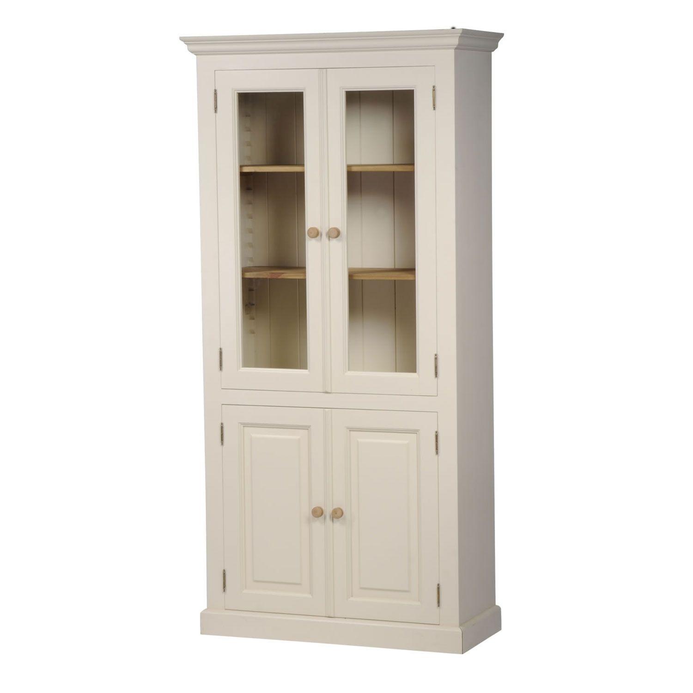 Mottisfont Painted Glazed Bookcase Green Oak Pine Mbk201