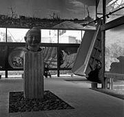 Expo 58 - Interieur van het Japanse paviljoen