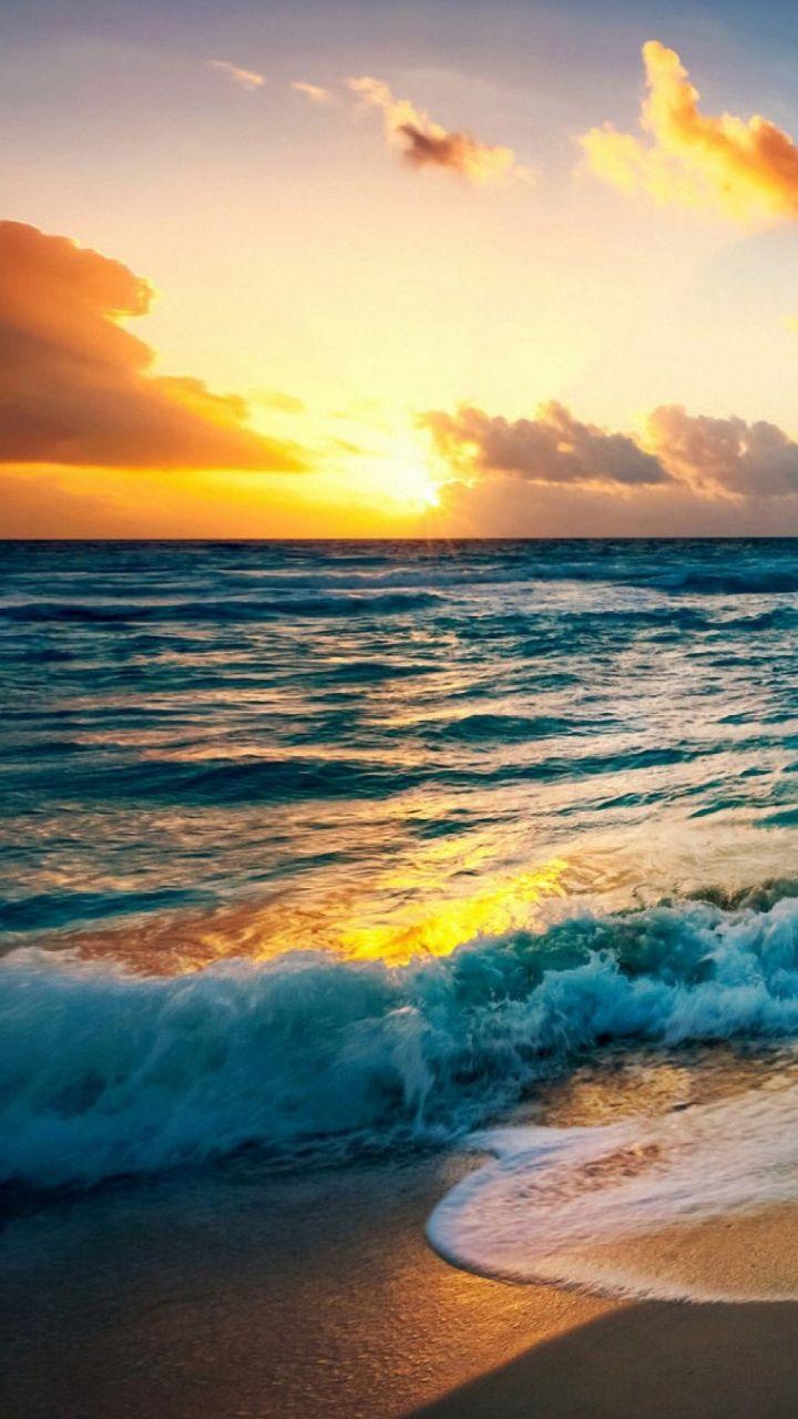 Sky Horizon Body Of Water Sea Ocean Nature Beach Sunset Wallpaper Beach Wallpaper Sunset Wallpaper