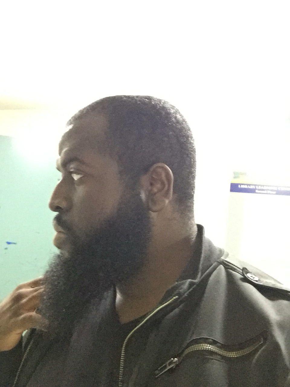 Side view of my beard