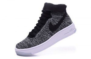 Mens Shoes Nike Wmns Air Force 1 Ultra Flyknit Mid Black White 818018 001 91b50a90c