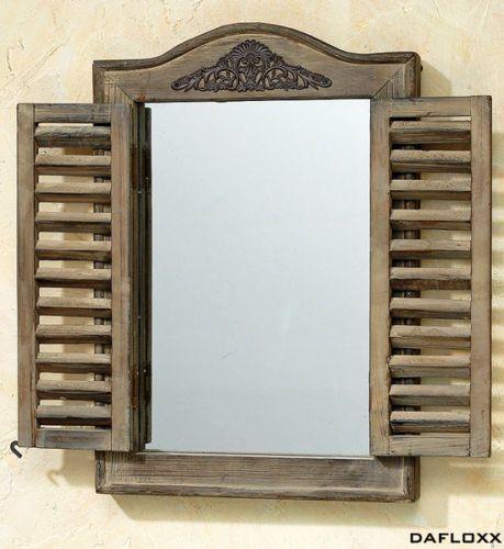 wandspiegel braun fensterladen spiegel holz barock fenster klappladen neu spiegel holz. Black Bedroom Furniture Sets. Home Design Ideas