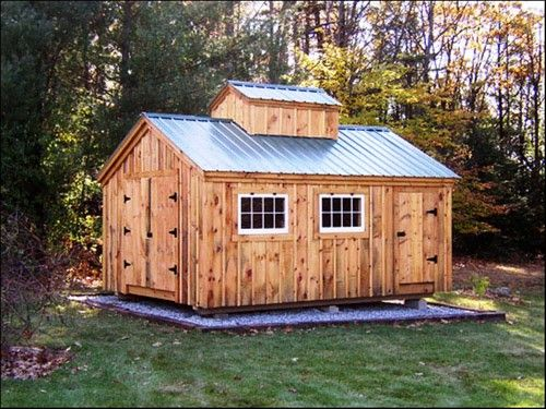 Diy plans 12x16 sugar shack storage shed cabin yard for Small shack plans
