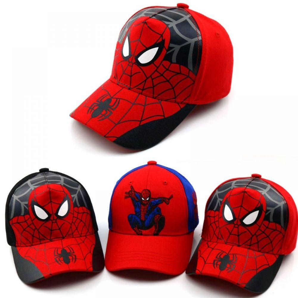 Boy Girl Adjustable Baseball Cap Kid Snapback Cartoon Superhero Casual Sun Hat