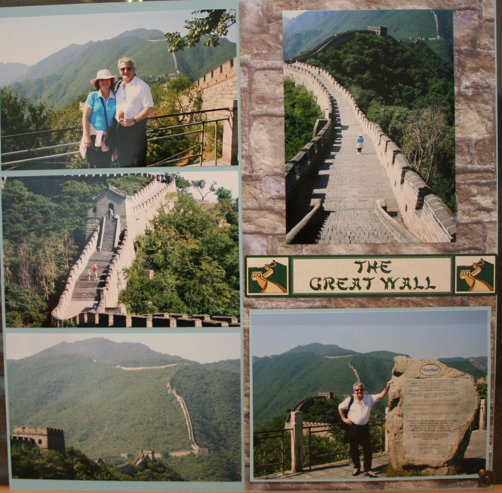 Scrapbook ideas singapore - The Great Wall Of China Page 1 Scrapbook Com