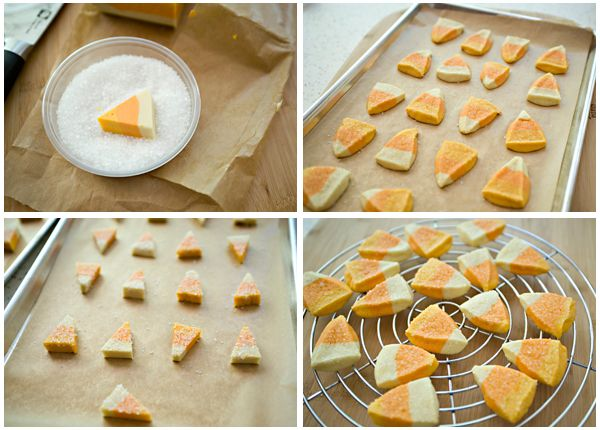 Candy Corn Cookies | Baked Bree
