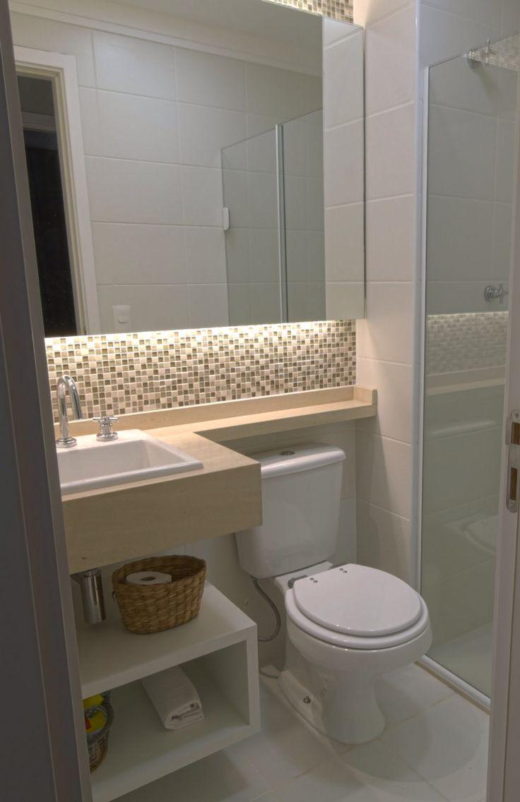 Banheiro apartamento pequeno arq cristina gavranic www for Ideas para lavabos pequenos