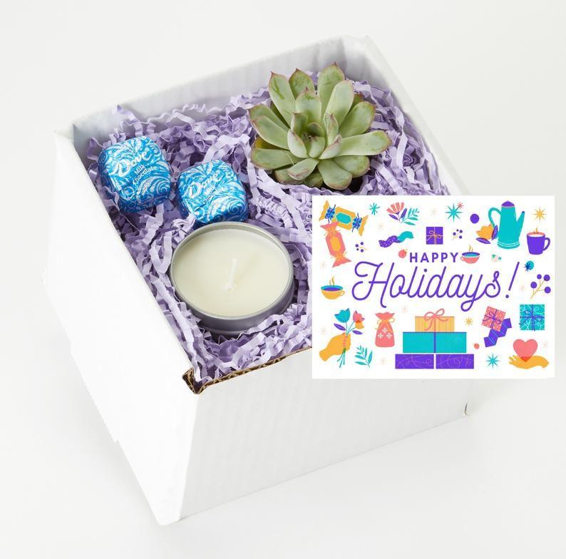 Corporate Holiday Gift Box Employee Christmas Gift Happy