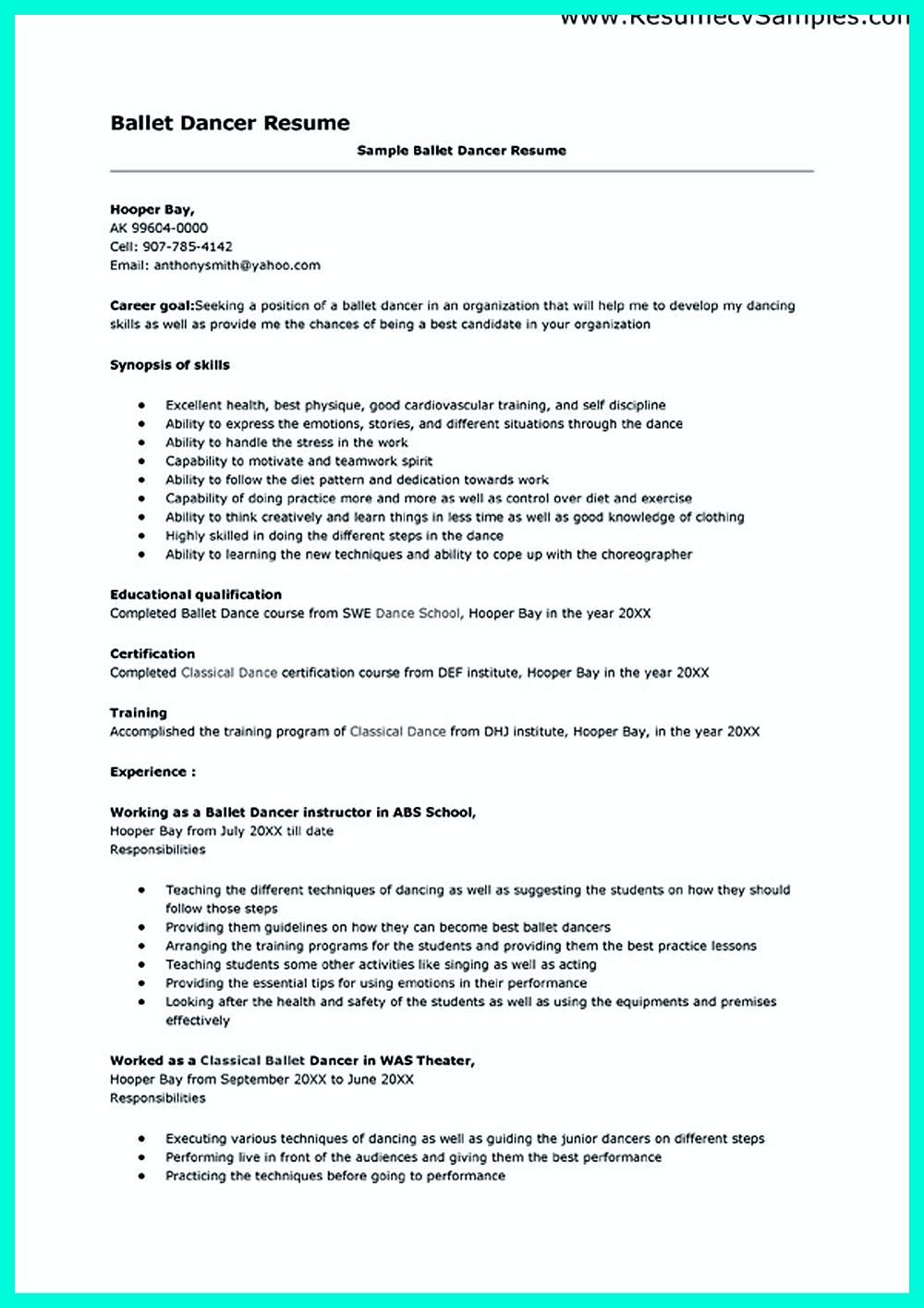Dance Resume Can Be Used For Both Novice And Professional Dancer Most Job Of Dancer Has Minimum Requirem Teacher Resume Template Resume Template Acting Resume