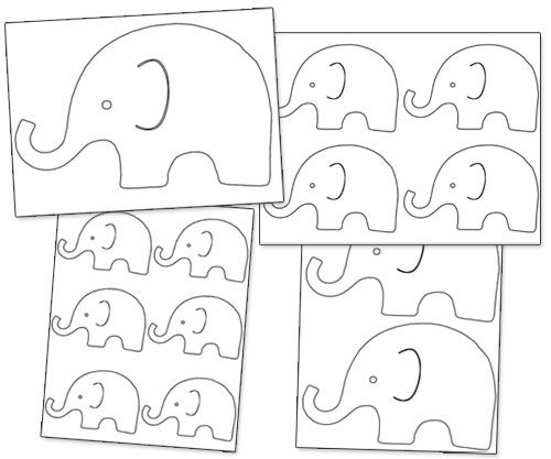graphic relating to Printable Pictures of Elephants identified as Printable Elephant Define - Printable Snacks Little one