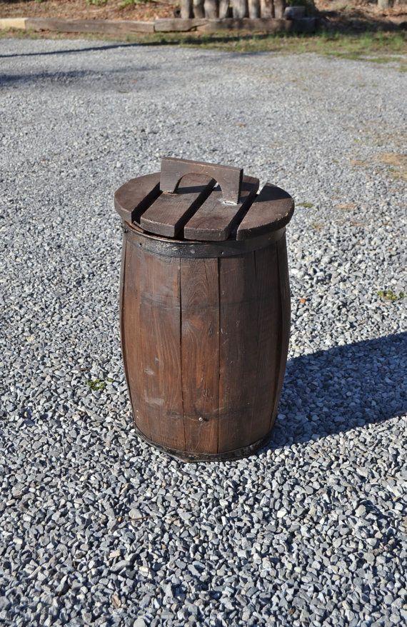 Vintage Wooden Nail Barrel Nail Keg Old Wood Nail Barrel Rustic ...
