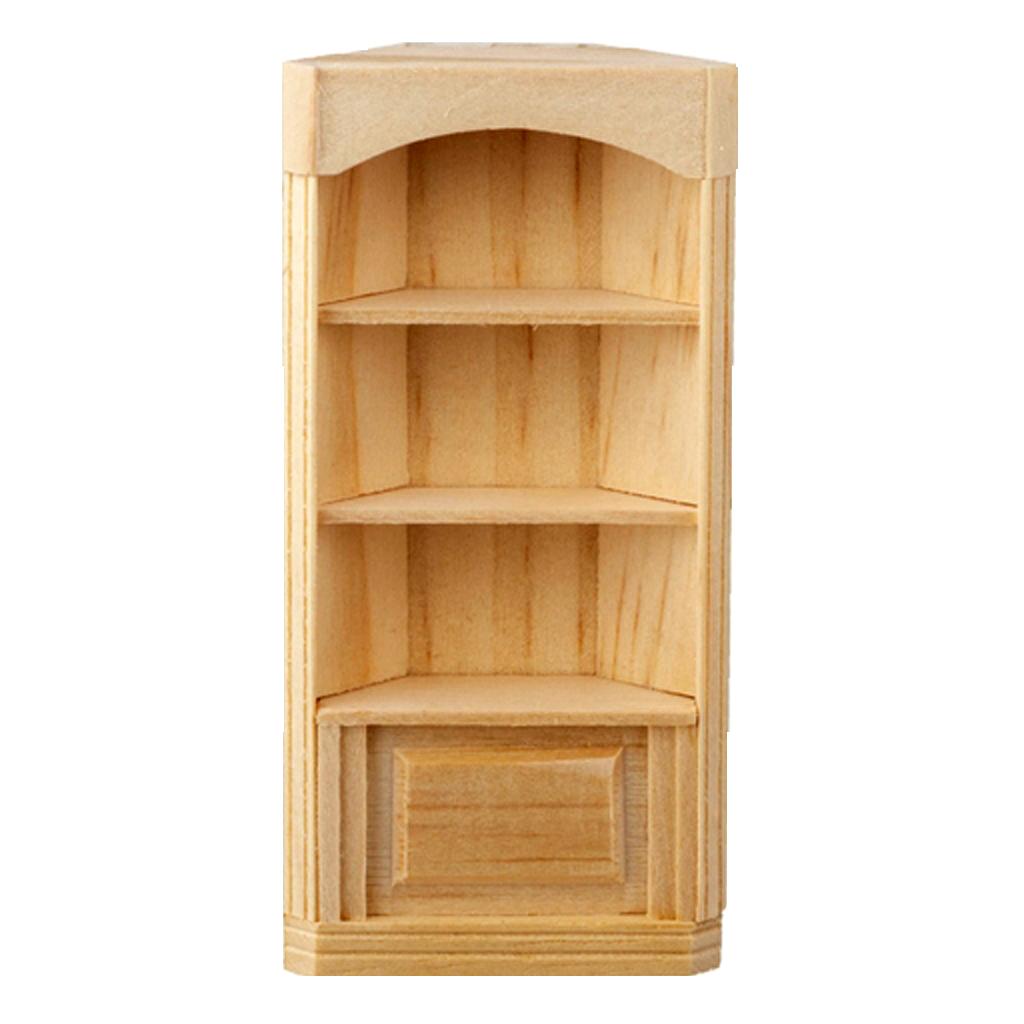 1 2 Inch Scale Houseworks 3 Shelf Corner Bookcase Dollhouse