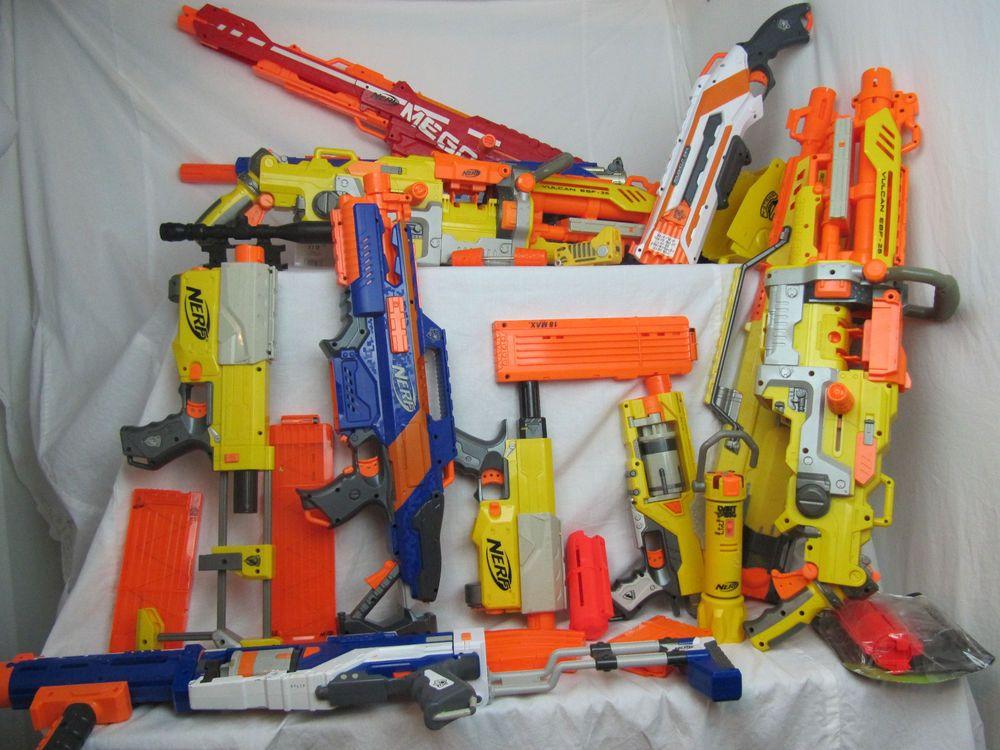 NERF Gun Lot 12 guns plus accesseries * Volcan, Centurion 41