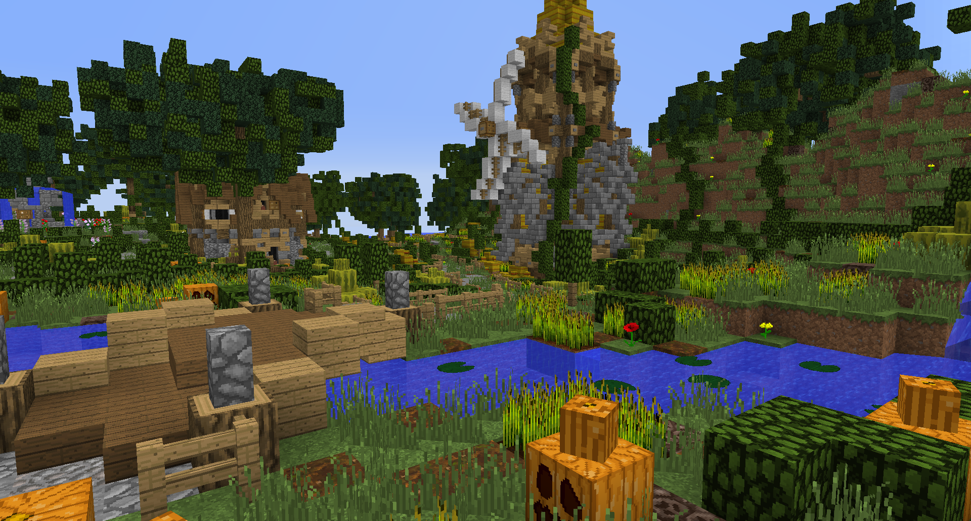 Minecraft Village Garden minecraft #buildings #simple #fantasy #lollyherz #village #house
