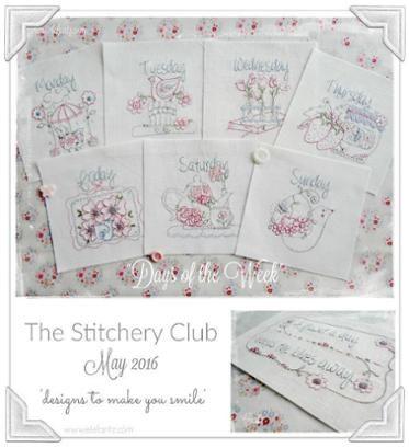 Days of the Week - 8 stitcheries!