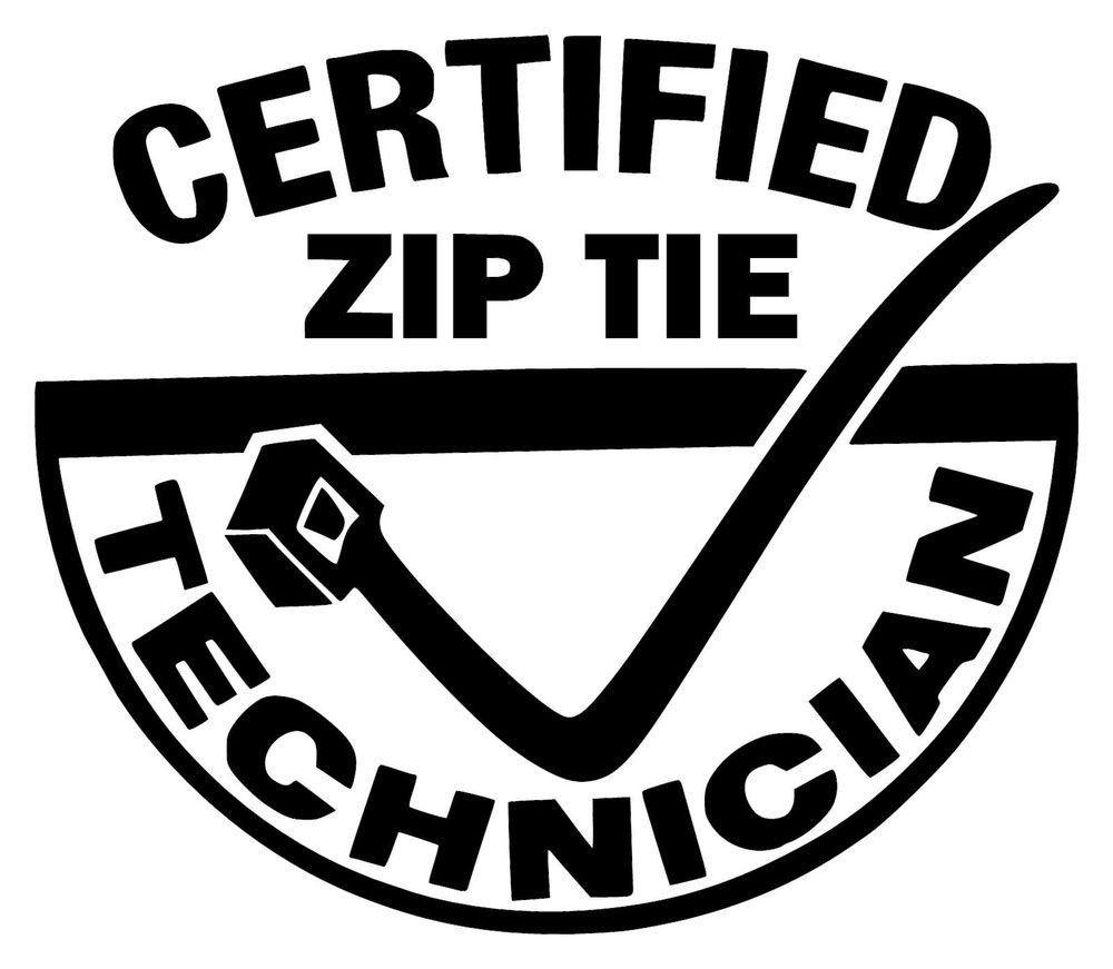 Zip tie technician vinyl sticker zip tie technician vinyl sticker car decals funny
