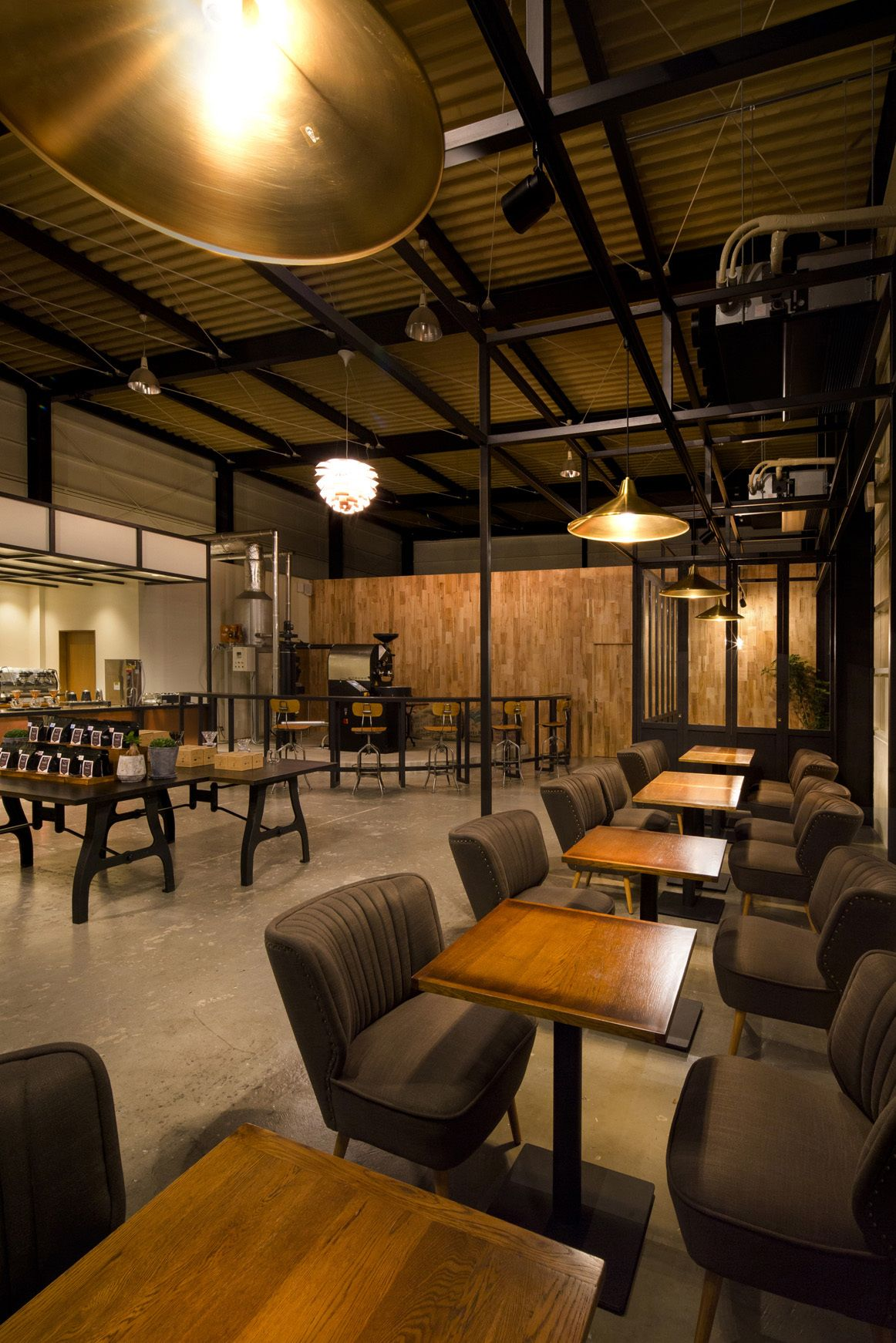 series of four seating coffee shop cafe interior design