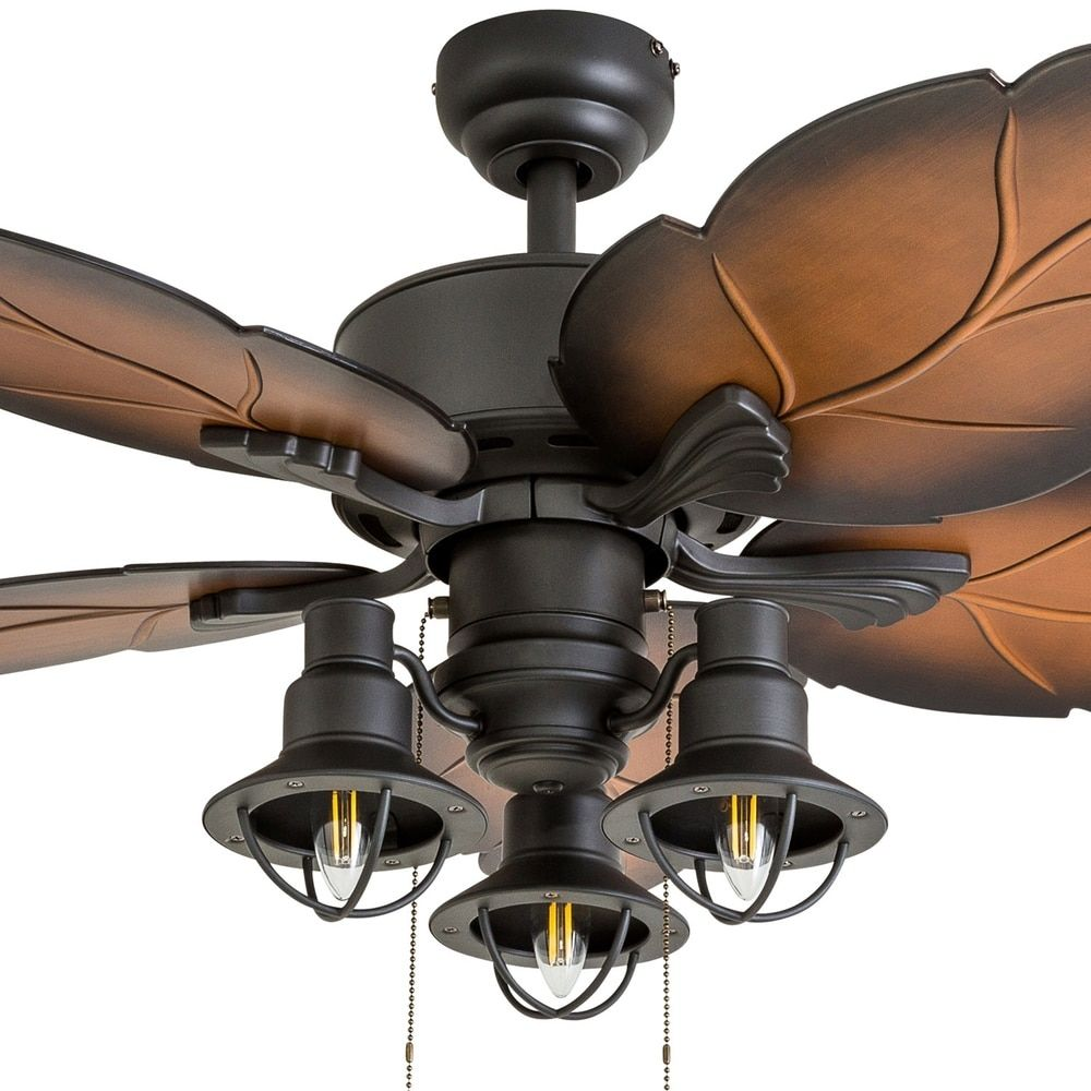 """Prominence Home Ocean Crest Tropical 52"""" Aged Bronze LED ..."""