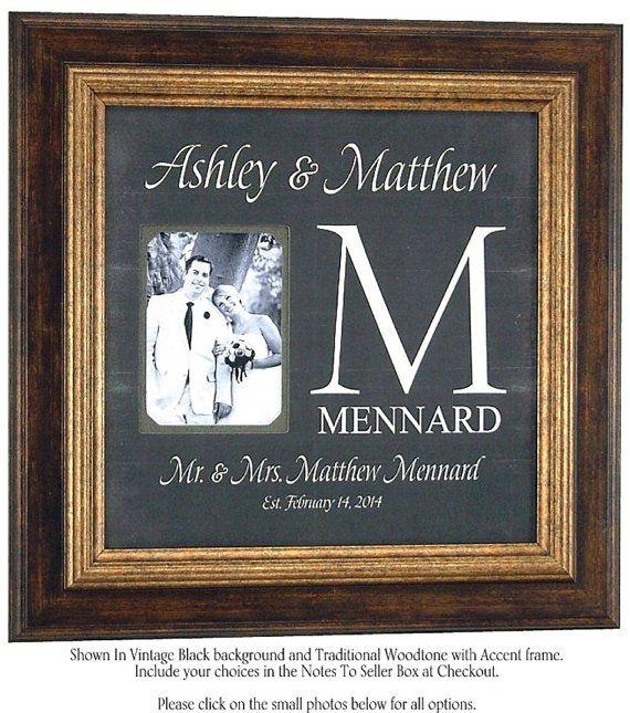 Custom Wedding Monogram, Wedding Gifts for Parents, Monogrammed ...