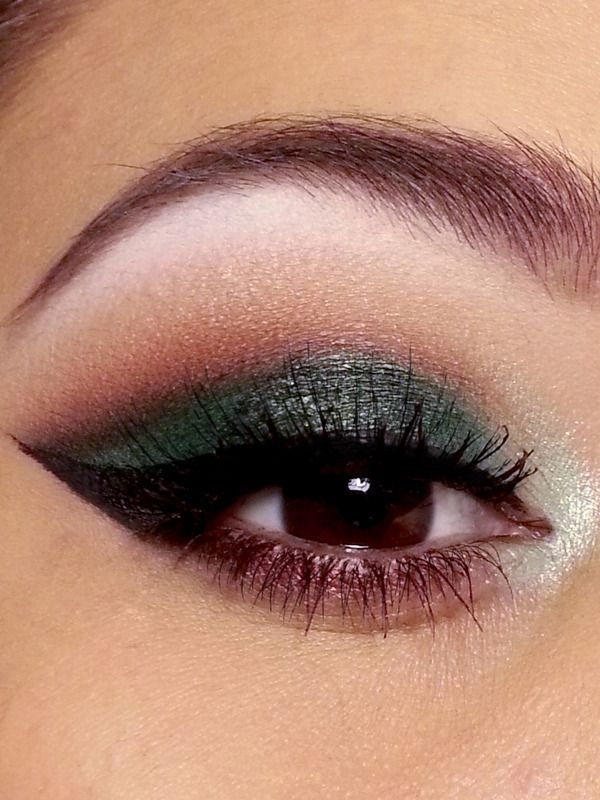 Forest Inspired- brown eyes-green and brown shadow