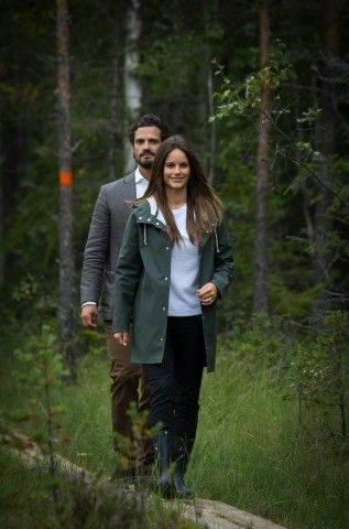 Prince Carl Philip of Sweden, Duke of Värmland, and Princess Sofia of Sweden, Duchess of Värmland, visits Värmland in the western part of central Sweden, August 26 2015.