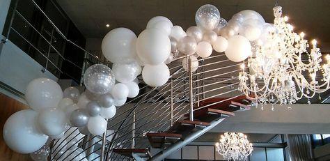 Glamorous Balloon Decor For Shimmy Beach Club Christmas 2016