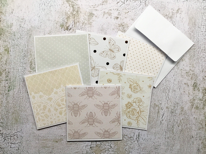 Mini Blank Card Set Junk Journaling Cards Small Ephemera Note