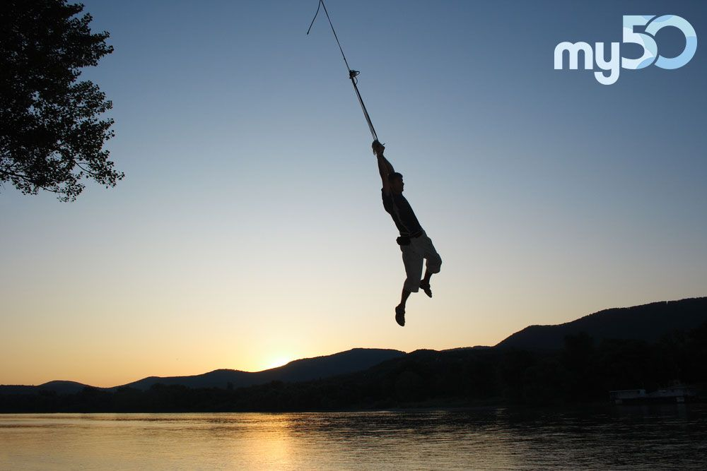 Make a splash and add 'rope swing into water' one of your