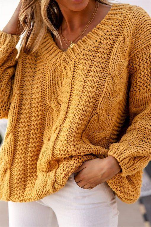Petalgal Que Oversize Mustard Sweater