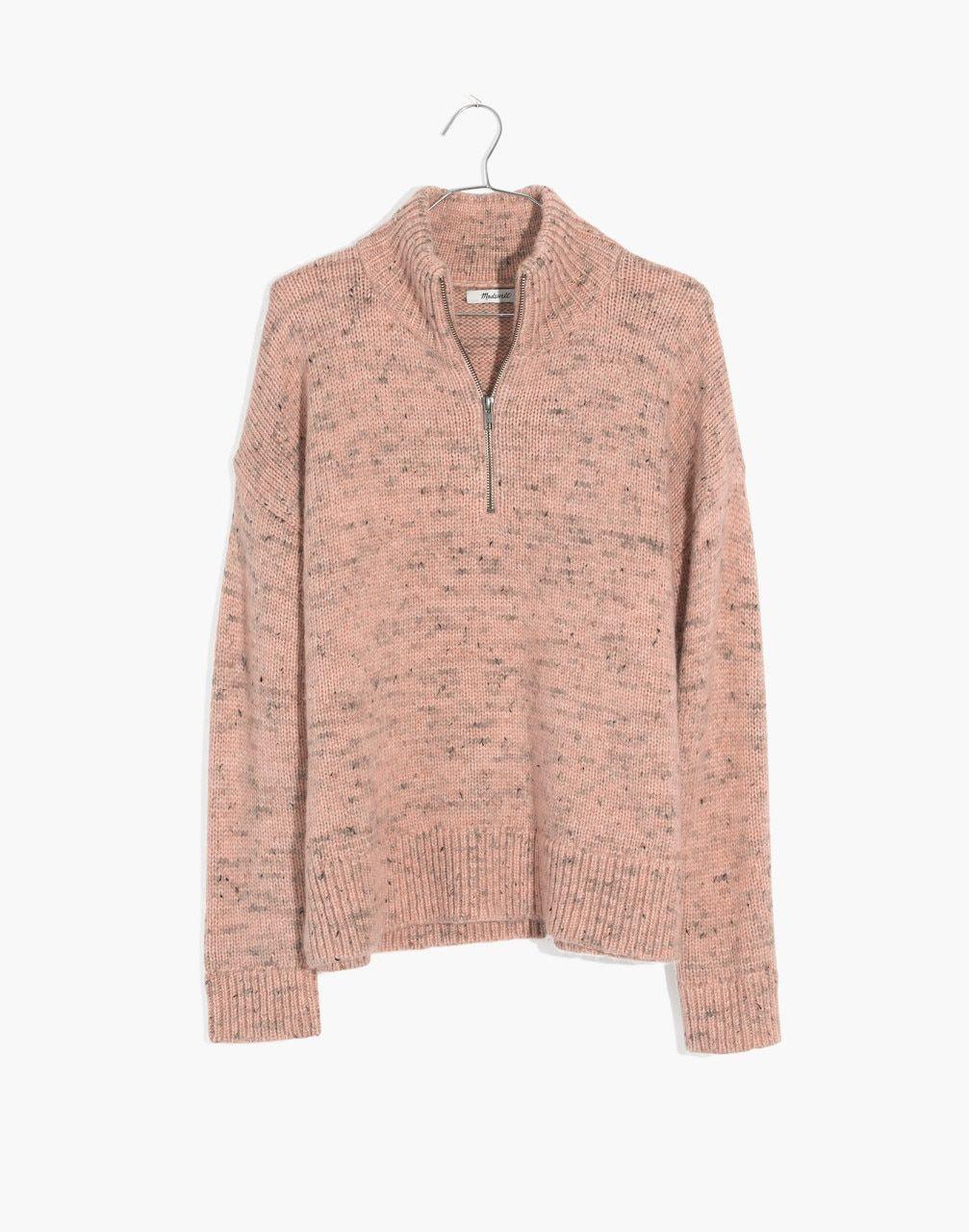 4e268c1d71c3 Half-Zip Popover Sweater in donegal blush image 4