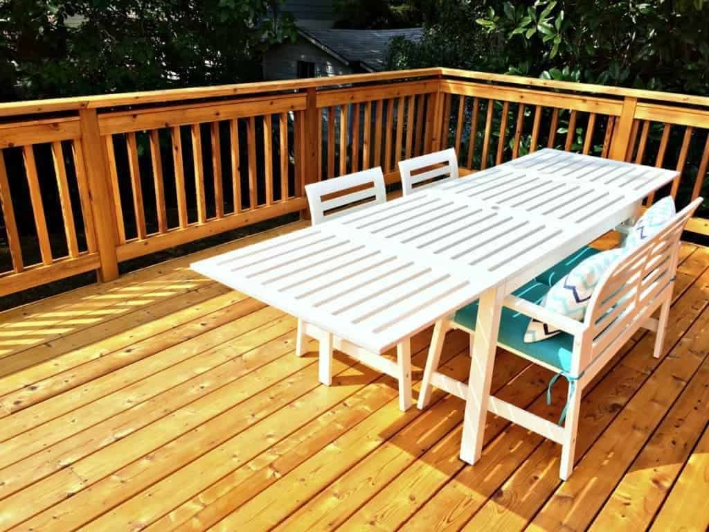Do You Have New Deck That Left To Weather For 6 12 Months Before Stain A Follow These Cleaning Steps The Best Results