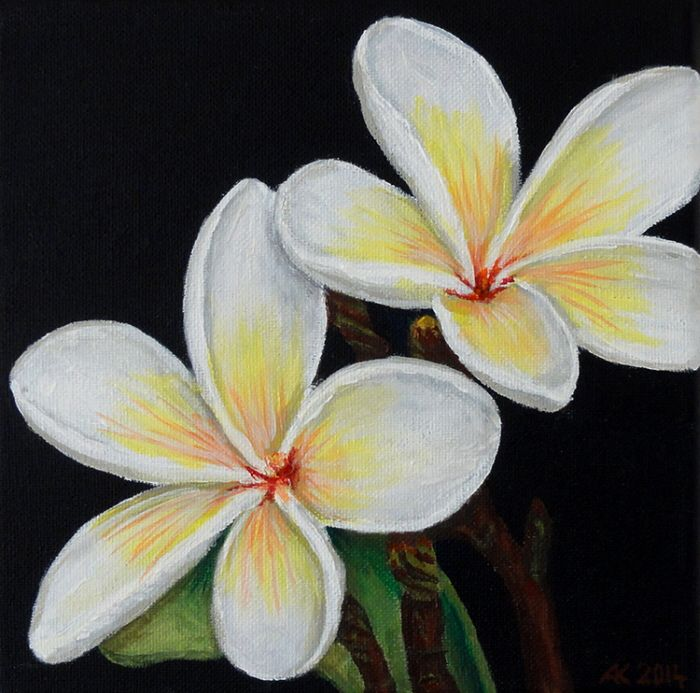 Painting Acrylic Paint By Andrej Kaprinay At Coroflot Com In 2020 Acrylic Painting Flowers Acrylic Painting Canvas Black Canvas Paintings