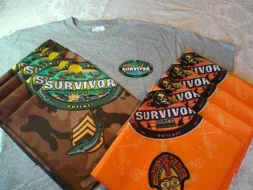 Host a SURVIVOR Party for 8 w/ Bandanas, Shirt & Games! | eBay