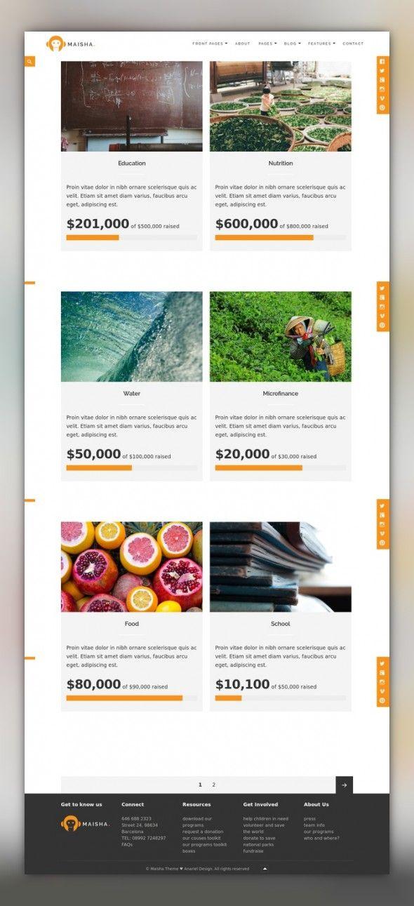 Maisha - Charity\/Non-Profit WordPress Theme WordPress Theme CMS - ngo templates