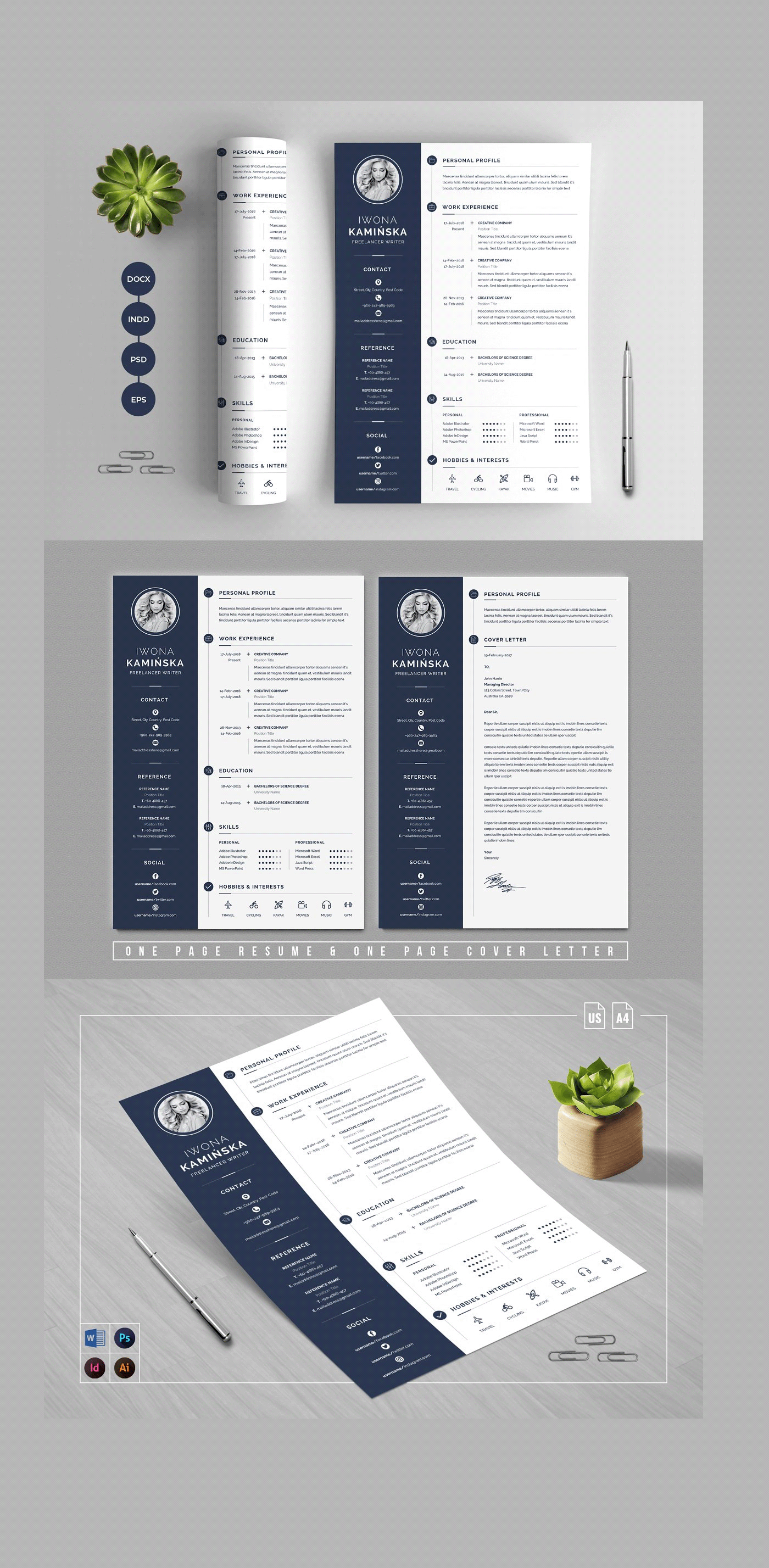 A4 Paper Size Clean Resume/CV in 2020 Clean resume