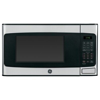 Ge 1 1 Cu Ft 950 Countertop Microwave Stainless Steel At Lowes Com In 2020 Countertop Microwave Stainless Steel Microwave Countertop Microwave Oven