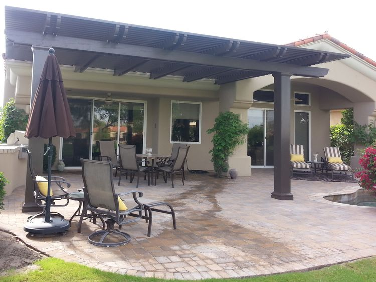 Solid Patio Cover Palm Springs Ca Patio Backyard Patio Shade