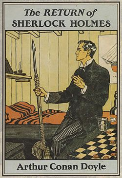 An illustration from Collier's Weekly, February, 1904 Sherlock Holmes