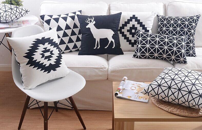 Sofakissen Ikea günstige hochwertiges leder minimalistischen skandinavischen ikea