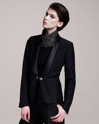 Designer TAILORED TUXEDO BLAZER FOR WOMEN FALL 2013  61d2634ed