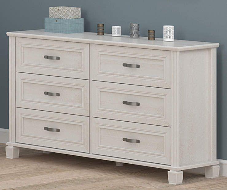 Ameriwood Magnolia Oak White 6 Drawer Dresser Big Lots White 6
