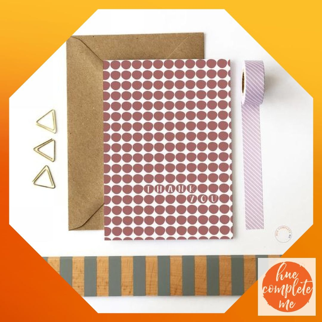 Thank You Card On Sale Clearance Maroon Dot Thanks Birthday Party