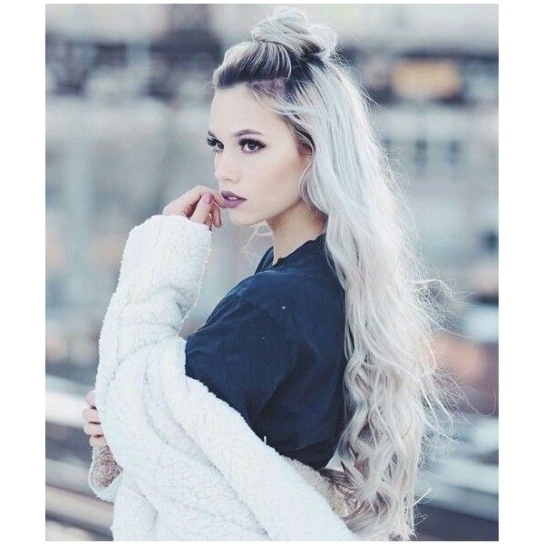 silver, white, platinum hair ❤ liked on Polyvore featuring hair ...