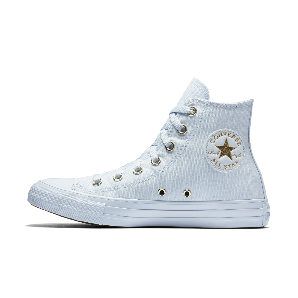 43854537afde Converse Chuck Taylor All Star Mono Glam High Top Women s Shoe Size 8 (Blue)